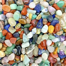"250 Grams of Small Mixed Crystals, Gems & Tumble Stones ""FREE CHART"" (WORLD MIX)"