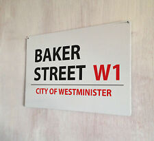 Baker Street London street sign A4 metal plaque decor picture