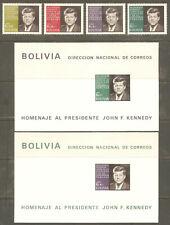 Bolivia Sc# 510 - 511a C291 - C292a Mnh Fvf Set-4+2xSouv Sht John F Kennedy