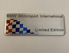 BMW M Motorsport Limited Edition Emblem Aufkleber Sticker 8cm x 3,1cm Aluminium