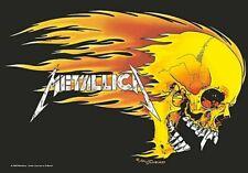 Metallica Poster Flaming Skull Band Logo Official Textile 75cm X 110cm