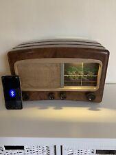 More details for reworked vintage cossor bakelite valve radio 1950 upcycled as bluetooth speaker