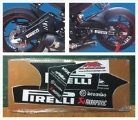 Kit forcellone Yamaha R6 2006 2013 AC - adesivi/adhesives/stickers/decal