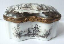 Boite tabatière en porcelaine avec peinture miniature 19e siècle painting