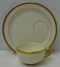 """LENOX china TUXEDO J33 green stamp Round Snack Plate & Cup Set - 7-1/4"""""""