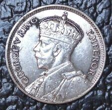 1934 New Zealand - Sixpence - Silver - George V King - Wwii era - Nice