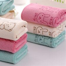 2Pcs Cute Microfiber Absorbent Drying Bath Beach Towel Baby Kids Cartoon Towe FJ