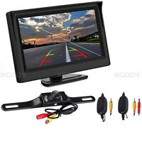 "5"" Rear View Monitor + Wireless Reversing Paking Camera For Truck Carava Kit"
