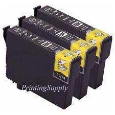 3PK Hi-Yield BK Ink For Epson 220 XL Expression XP320 XP420 XP424 WF2630 WF2650