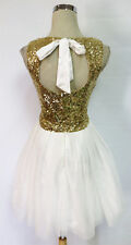 WINDSOR White Gold Dance Party Prom Dress 11 - $75 NWT