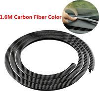 Universal 1.6M Rubber Car Dashboard Gap Filling Sealing Strip Carbon Fiber Color