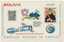 BOLIVIA 1975, Apollo-Sojuz, USA, Philately very scarce superb U/M MS