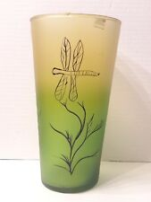 "Womar Glass Dragonfly Vase 10"" Tall"