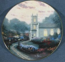 Blossom Hill Church Collector Plate Thomas Kinkade Thomashire Series with Coa