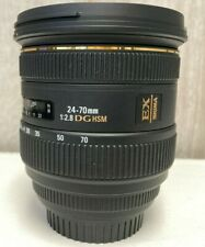 Sigma DG 24-70mm f/2.8 HSM EX DG AF IF Lens For Canon, Preowned,  Mint Condition