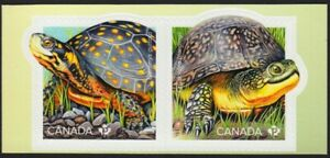 TURTLES = ENDANGERED = Se-Tenant pair from Booklet = MNH CANADA 2019 #3179a,b