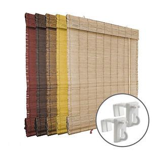 Estor plegable de bambú con soportes hakenfix Easyfit sin taladrar Victoria M