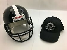 Jack Daniels Honey & Fire Riddell Football Helmet & 150th Anniversary Cap Hat