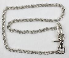 Biker Rockabilly Wallet Chain Double Rope Schlüsselkette Geldbörsen Kette 85cm