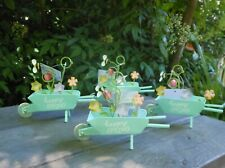 4 Wheelbarrow Guest Table Place Card Holder Stands Photo Clips Nwt Free Shipping