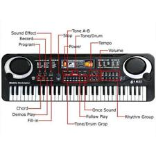 61 Keys Digital Music Electronic Keyboard Piano for Child 3 pin UK plug