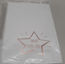 Fine Invite Papers 25 Piece Foil Stamped You Did It Cards, Rose Gold