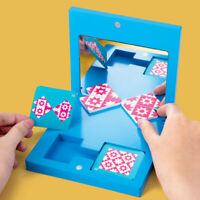 Wooden Kids Mirror Puzzle Toy Jigsaw Logic Thinking Reasoning Mirror Toy LD