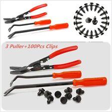100pc Nylon Fastener+ 3Clip Plier Fastener Remover Essential Combo Repair Tools