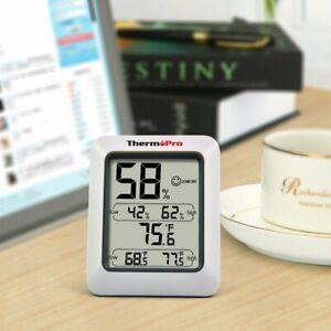 Thermomètre Hygromètre Intérieur  Écran LCD Digital Mémoire  Max/Mini avec Pile
