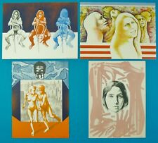 """4 Vintage Lithographs by Lillian Desow-Fishbein- """"The New Image""""- 53/100, 1972"""