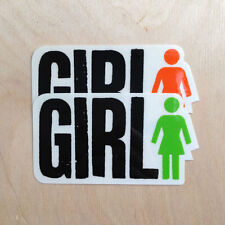 Girl skateboards logo vinyl sticker logo Mike Rick McCrank Spike Jonze Jenkins