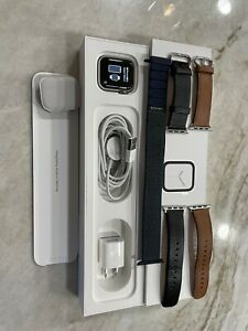 Apple Watch Series 4 40 mm Silver Stainless Steel Case with 3 bands