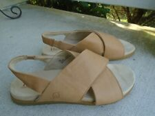 Born tan leather womens slingback sandals sz 9M