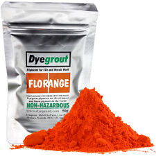 50 grams - Florange Vibrant Orange Grout Pigment for Mosaics Cement Dye Dyegrout