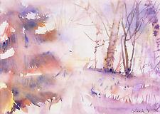 watercolor painting aquarelle original Picture572(30x21)cm PL