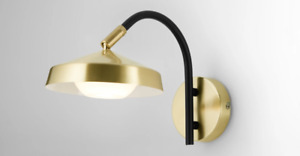 Pair of Made.com 2x Garnaas LED Luminaire Wall Lamp In Brass - Brand New in Box