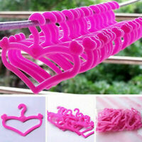 20* Cute Plastic Kawaii Pink Hangers for Doll Dress Clothes Accessories Gift Hig