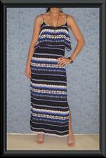 Summer/Beach Machine Washable Striped Maxi Dresses for Women