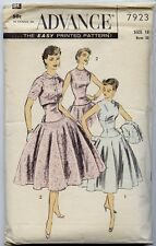 Vintage Sewing Pattern 50s Cocktail Dress Advance 7923 Unused, Factory Folds
