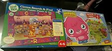 X2 Puzzles - Leap Frog Circus Search & Find 48pcs & Moshi Monsters 2in1 60pc VGC