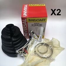 Universal Split CV Boot Kit Bailcast Stickyboot Easy Driveshaft Gaiter Repair x2