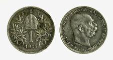pcc2128_110)  Franz Joseph I 1 Korona 1914 AG