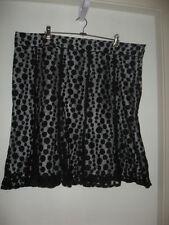 Polyester Polka Dot Knee-Length Plus Size Skirts for Women
