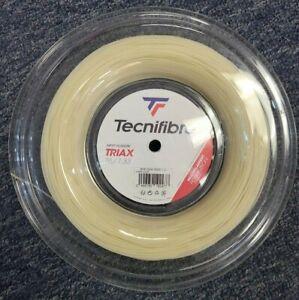Tecnifibre Triax 16 Gauge 1.33mm 660' 200m Tennis String Reel Natural