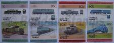 1985 NANUMEA Set #2 Train Locomotive Railway Stamps (Leaders of the World)