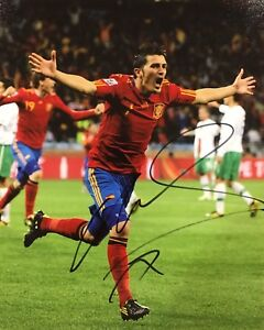PROOF! DAVID VILLA Signed Autographed 8x10 Photo SPAIN FC BARCELONA Soccer