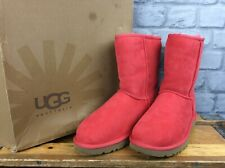 UGG AUSTRALIA LADIES UK 5.5 EU 38 CLASSIC SHORT RED BOOTS UGGS RRP £165 LG