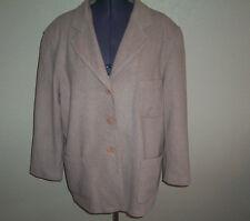 Women's Express Tan Wool Blend Lined Coat Large