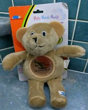 Baby Bottle Buddy, Teddy Bear Bottle holder with Teethers. From 0+ Months