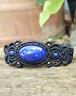 Macrame Bracelet Lapis Lazuli Stone Handmade Bohemian